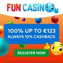 Fun Casino 50 free spins and 200% welcome bonus