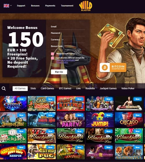 Wild Blaster Casino Review