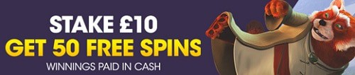 BetBright 50 free spins no wagering bonus