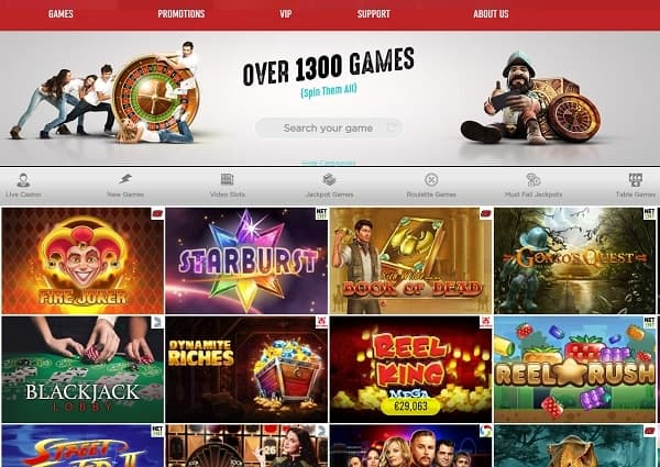 SpinIt Casino Website Review