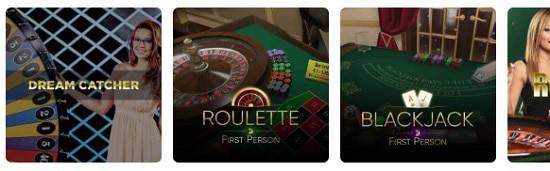 Dreamz Casino table games and live dealer