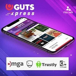 Guts Xpress Casino (Trustly, Pay N Play) - free spins & gratis bonus