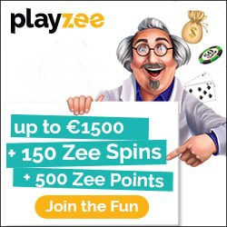 Playzee Casino €1,500 bonus + 150 free spins + 500 Zee Points