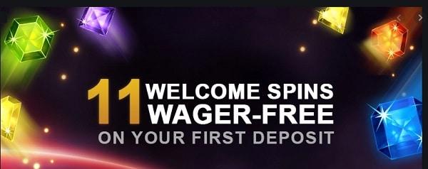 11 no wager free spins bonus