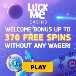 LuckMe Casino 370 free spins without wagering - no requirements