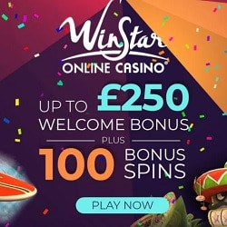 100 free spins & €250 welcome bonus