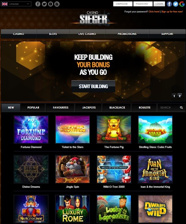 Register and claim 20 free spins!