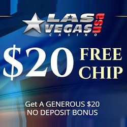 Las Vegas USA Casino $20 free chip + 400% welcome bonus code
