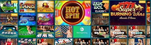 Spinaru Casino games and software