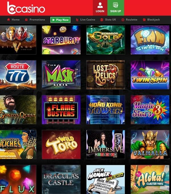 bCasino Casino review