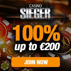 Casino Sieger 100% bonus up to 200 EUR and free spins