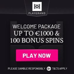 PlayGrand Casino 100 free spins and €1,000 welcome bonus