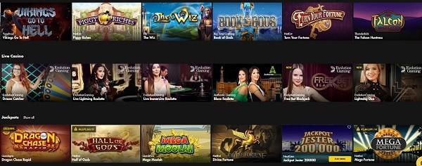 Bethard.com slots, table games, live dealer