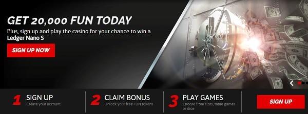CasinoFair 500 FUN no deposit bonus