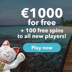 Lucky Days Casino 100 free spins and €1000 welcome bonus