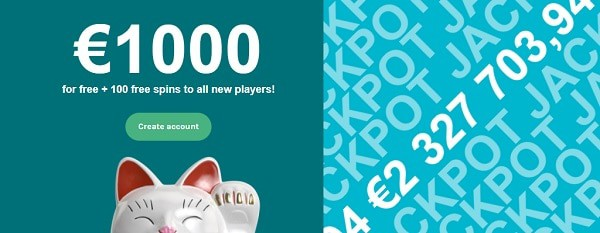 LuckyDays 1,000 EUR welcome bonus and 100 free spins