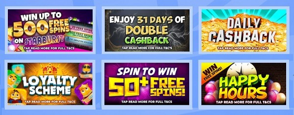 British Spins welcome bonus and promotions