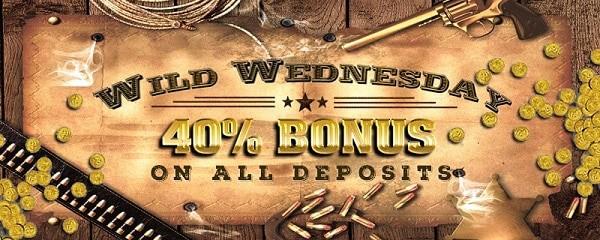 Double Up Casino 40% reload bonus on Wednesdays