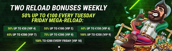 Fastpay Casino reload bonuses and promotions