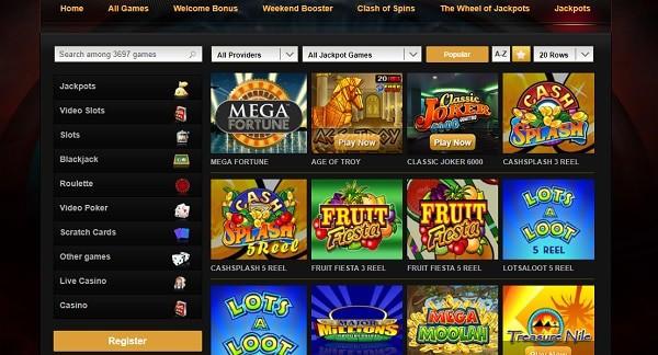 Video Slots Casino - games, bonuses, banking, support, register, login