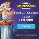 Casino Gods 300 Free Spins and €1500 Welcome Bonus