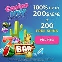 Casino Joy 200 free spins and €1000 welcome bonus