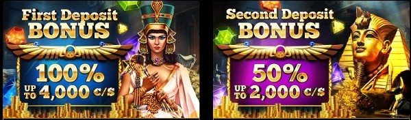 Welcome Bonus and Free Spins to Cleopatra Online Casino