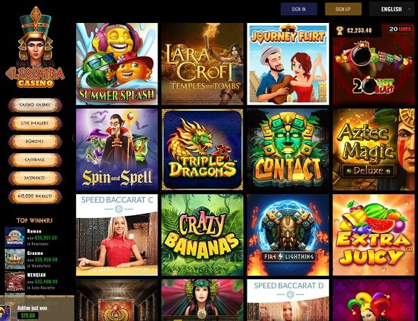 Cleopatra Casino Review