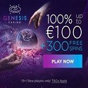 Genesis Casino 300 free spins and €1000 welcome bonus