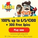 Kassu Casino 300 free spins and $1500 welcome bonus