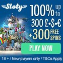 Sloty Casino 300 free spins and 1500 EUR welcome bonus