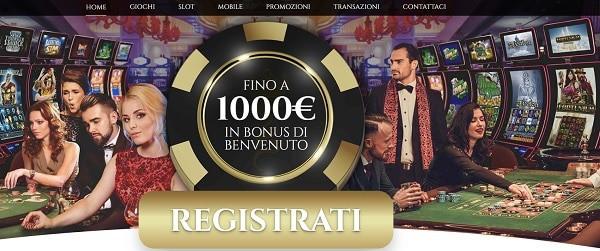 Voglia di Vincere Casino 1.000 EUR gratis IN BONUS DI BENVENUTO