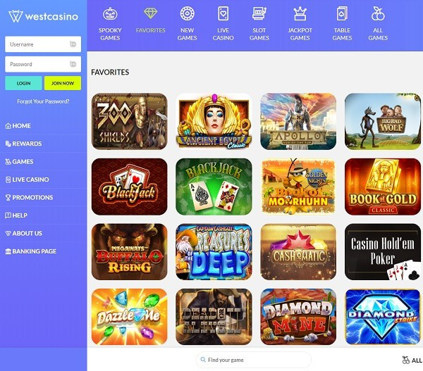 WestCasino.com Review