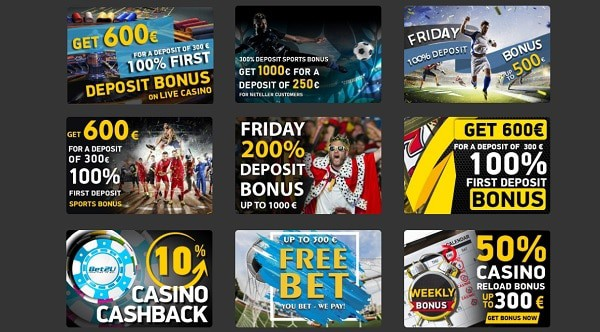 Bet2U.com welcome bonus and promotions