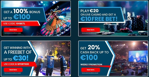 Eaglebet.com Esport free bet promotion