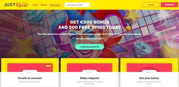 JustSpins Casino Free Spins Bonus