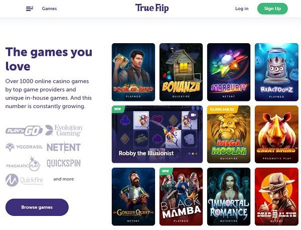 True Flip Online Casino Review