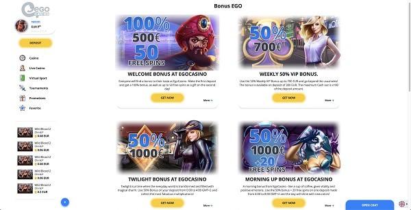 Ego free spins bonus