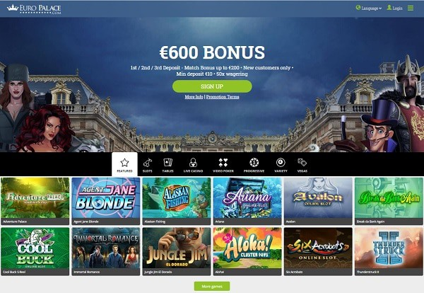 600 EUR and 100 free spins
