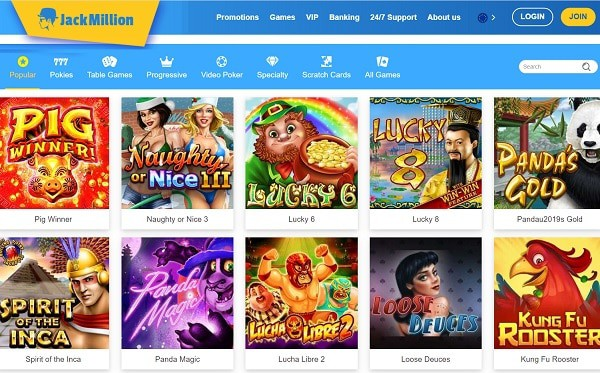 Jack Million Casino Review 150 free spins and $1500 welcome bonus