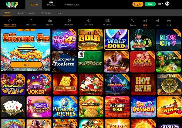 Spin Million Casino review & rating