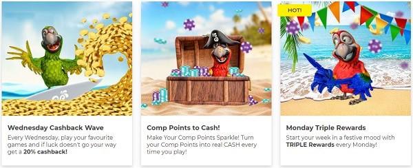 Samba Casino promotions, cashback, VIP