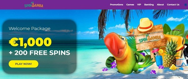 200 free spins and 500% up to $1,000 welcome bonus