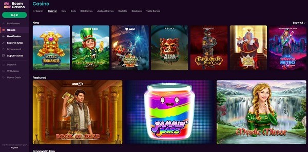 Boom Casino Review - free spins, bonuses, promotions