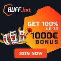 Buff.bet Casino €1000 welcome bonus and €25 free bet bonus
