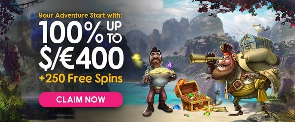$1200 welcome bonus and 250 free spins in deposit promotions
