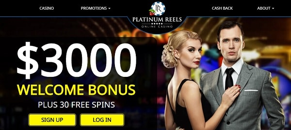 30 free spins and $3000 welcome offer