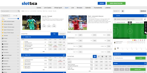 Slottica Sports, Betting, free bets