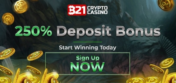 250% welcome bonus - sign up now!