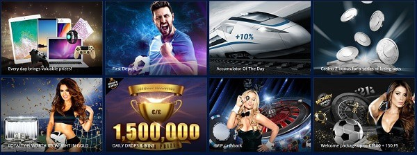 Promotions, Prize Draws, Tournaments, Free Spins, Free Bets